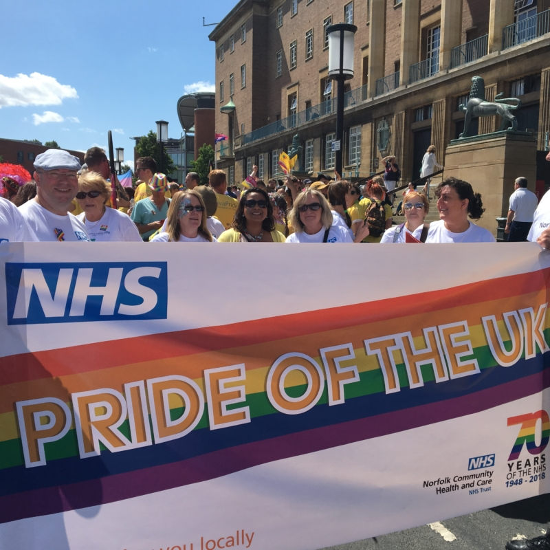NHS teams celebrate 10th Norwich Pride