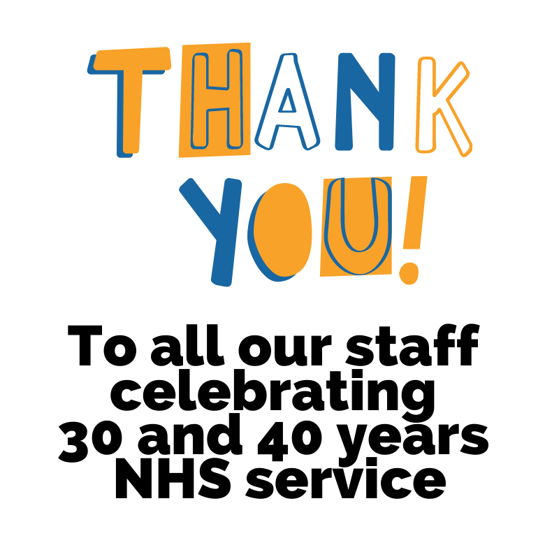 Thank you to all our staff celebrating 30 and 40 years service