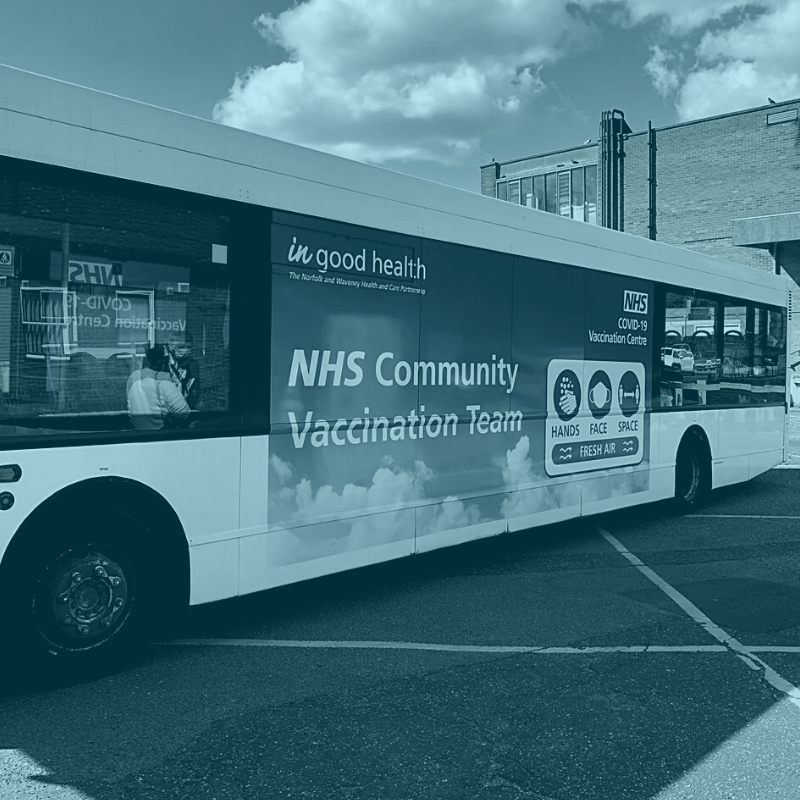 Community vaccination team hop on the bus to reach more people with lifesaving vaccine