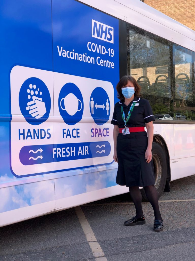 Carolyn Fowler on board with mobile vaccinations