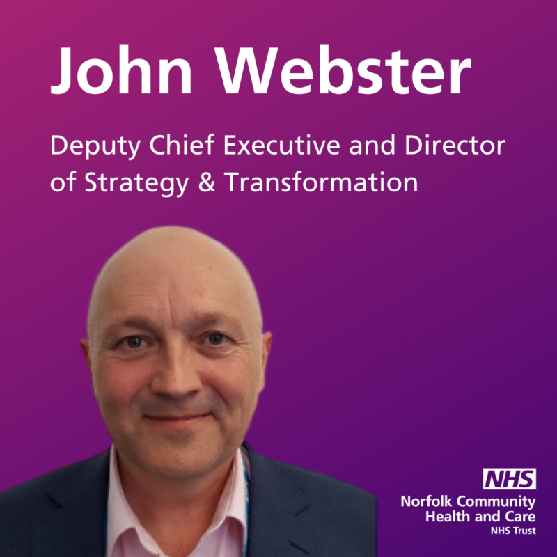 Introducing John Webster, NCH&C's new Deputy Chief Executive